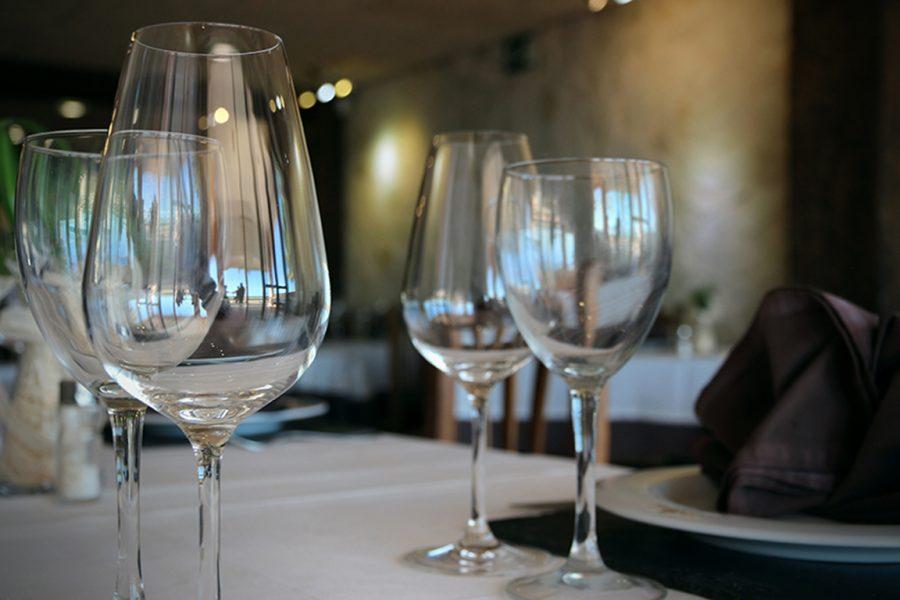 Detalle de las mesas Restauarante Galli