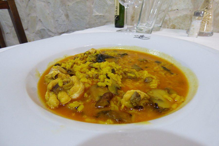 Arroz meloso de foie y setas Restaurante Galli