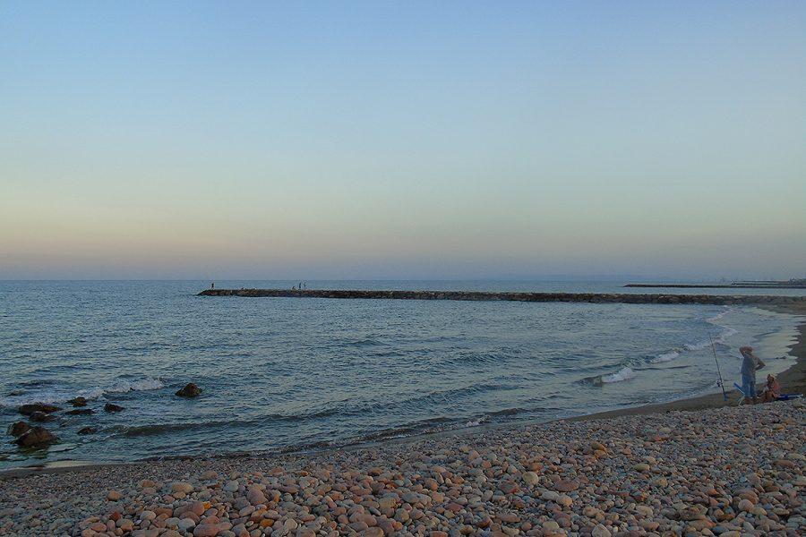 Atardecer en la playa de Puçol