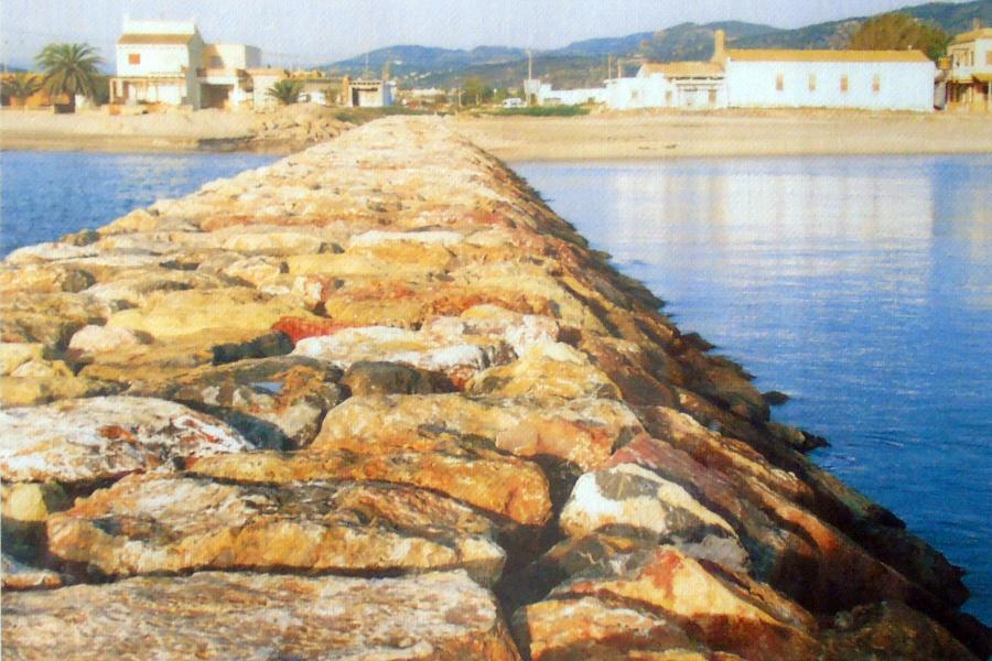 Espigón de la antigua Playa de Puçol